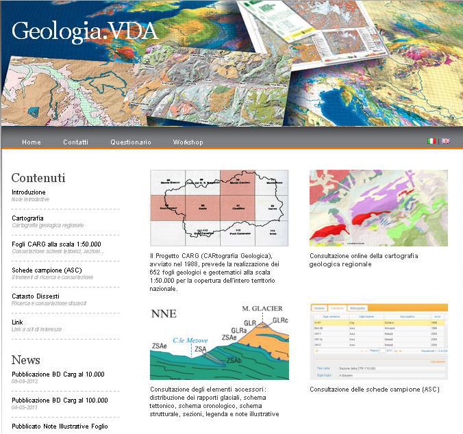 Portale della geologia della Valle d'Aosta.