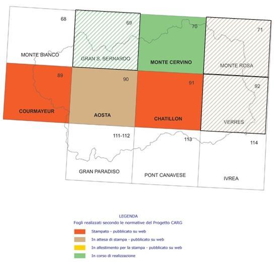 Copertura della carta geologica